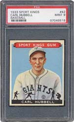 ''King Carl'' Hubbell struck out five legendary sluggers<br>during the '34 All-Star Game.. <i>in succession</i>!