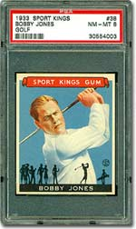 1933 Sport Kings #38 Bobby Jones PSA 8 NM-MT - sold for $15,990