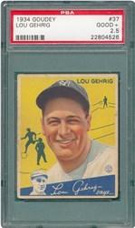 1934 Goudey Lou Gehrig #37