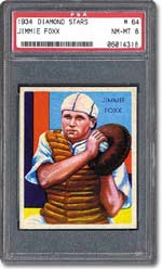 Jimmie Foxx is another star of the Diamond Stars set.