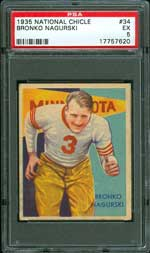 1935 National Chicle Bronco Nagurski #34