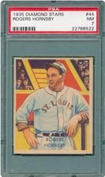 1935 Diamond Stars Rogers Hornsby #44