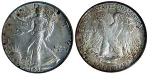 1935-S Walking Liberty Half Dollar