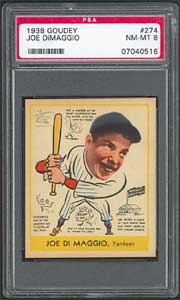 1938 Goudey Joe DiMaggio brings $19,550 in Superior auction