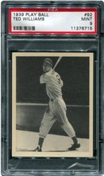 1939 Play Ball Ted Williams #92