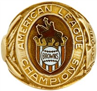 1944 St. Louis Browns World Series 'Owner's' Ring