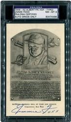 1946-52 Jimmie Fox HoF