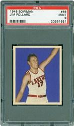 1948 Bowman Jim Pollard #66