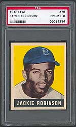 PSA NM-MT 8 1948 Leaf Jackie Robinson exceeds $15,000 in Superior auction