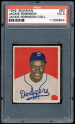 Jackie Robinson's Personal Rookie Card (PSA 3) - sold for $2,981
