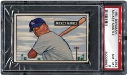 1951 Bowman Mickey Mantle #253