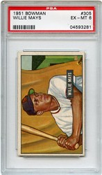 Lot 1: 1951 Bowman Mays RC PSA 6