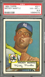 1952 Topps Mickey Mantle #311