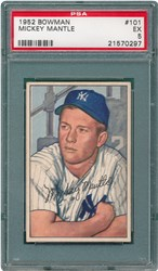 1952 Bowman Mickey Mantle #101