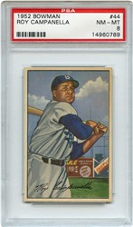 Lot 3: 1952 Bowman Campanella PSA 8