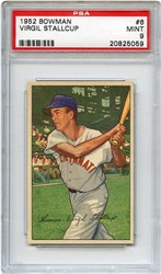 1952 Bowman Virgil Stallcup #6