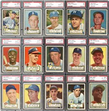 1952 Topps cards