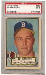 1952 Topps Ed Mathews #407