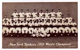 A 1952 Yankees Exhibit card.