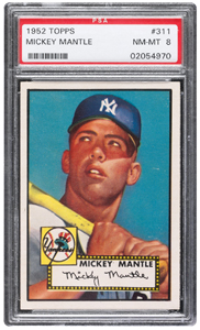 1952 Topps Mickey Mantle offered with over 45 other Mantle's in the upcoming Sportscard Plus sale