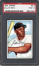 This '52 Bowman Mays drummed up an impressive $15,698.