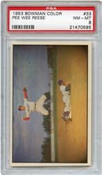 Lot 5: 1953 Bowman Color Reese PSA 8