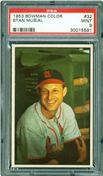 1953 Bowman Color Stan Musial #32