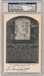1953 Gabby Hartnett Artvue HOF Plaque