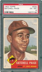 1953 Topps Satchell Paige #220