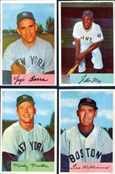 Cards from a 1954 Bowman baseball set