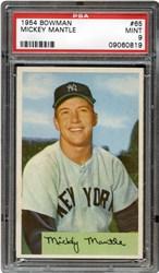 1954 Bowman Mickey Mantle #65