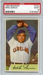 Lot 4: 1954 Bowman Garcia PSA 9