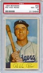 Lot 73: 1954 Bowman Reese PSA 8