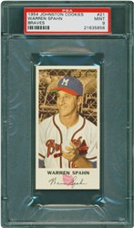 1954 Johnston Cookies Braves Warren Spahn #21