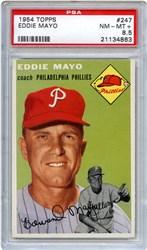 Lot 89: 1954 Topps Mayo PSA 8.5