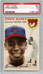 Lot 97: 1954 Topps Banks RC PSA 5