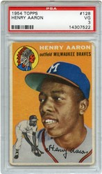 Lot 7: 1954 Topps Aaron RC PSA 3