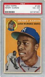 Lot 1: 1954 Topps Aaron RC PSA 4