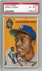 Lot 4: 1954 Topps Aaron RC PSA 6.5