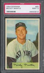 1954 Bowman Mickey Mantle, a deceptively tough card