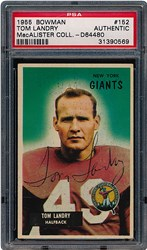 1955 Bowman Tom Landry #152
