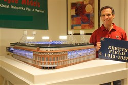 1955 Ebbets Field Model Recreation by artist Steve Wolf