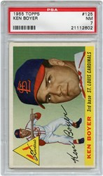 Lot 169: 1955 Topps Boyer RC PSA NM 7