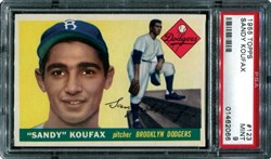 1955 Topps Sandy Koufax #123