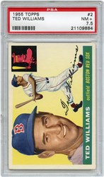 Lot 4: 1955 Topps Williams PSA 7.5