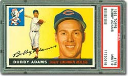 1955 Topps #178 Bobby Adams PSA 9 MINT - sold for $6,461