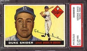 1955 Topps Duke Snider PSA 8