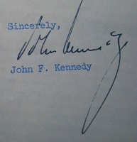 1956 John Kennedy Signed Letter (Closeup)
