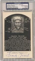 1956 Frank Frisch Artvue HOF Plaque