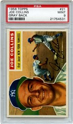 Lot 2: 1956 Topps Collins PSA 9